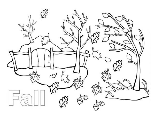 Autumn, : Autumn Season in My Country Coloring Page