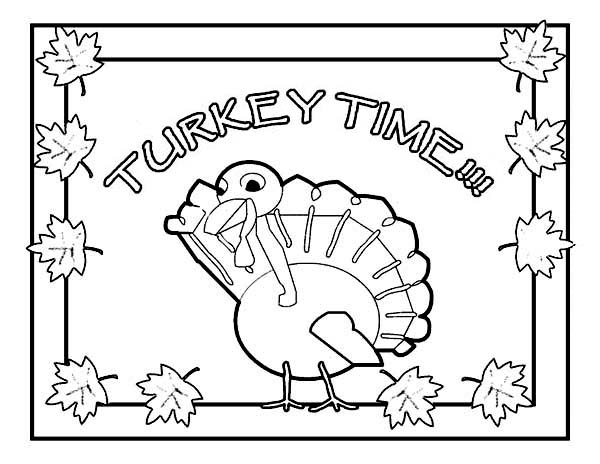 Canada Thanksgiving Day, : Canada Thanksgiving Day Means Its Turkey Time Coloring Page
