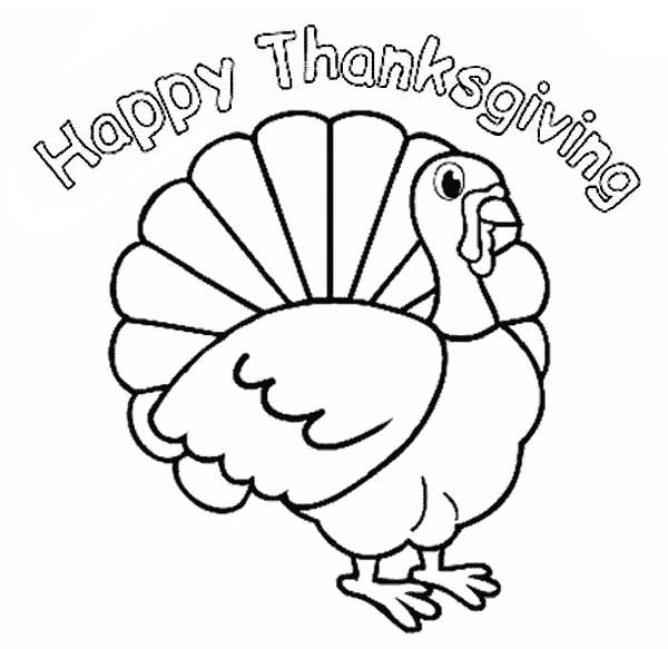 Canada Thanksgiving Day, : Canada Thanksgiving Day Turkey Says Joyful Thanksgiving to All Coloring Page