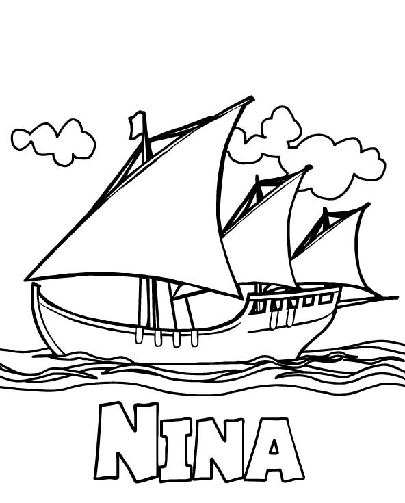 columbus ships coloring pages - photo #20