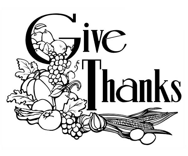 Canada Thanksgiving Day, : Give Thanks to Our Lord on Canada Thanksgiving Day Coloring Page