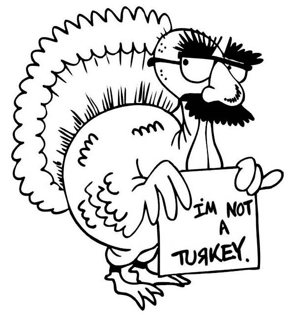 Hilarious Canada Thanksgiving Day Turkey Make Jokes Coloring Page