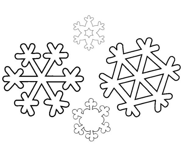 An Identical Winter Season Snowflakes Coloring Page