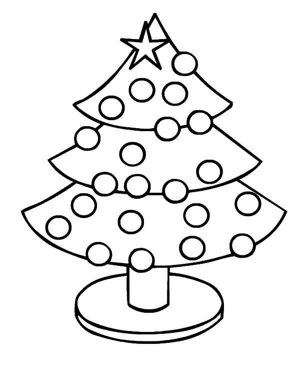 Christmas trees image coloring pages christmas trees image coloring