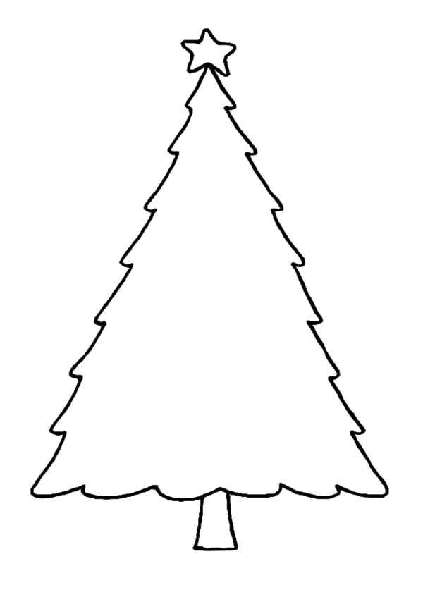 christmas tree outline coloring pages - photo#28