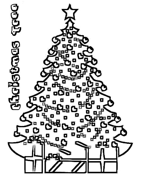 Christmas Trees On Eve Coloring Pages