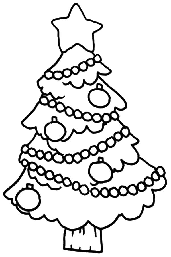 Christmas Trees Decorated Tree Coloring Pages Printable