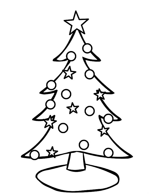Decorating christmas trees with stars coloring pages for Christmas tree star coloring page