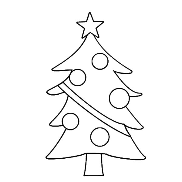 Online Christmas Tree Coloring Pages 31407