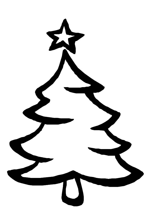 Kids Drawing Christmas Trees Coloring Pages | Color Luna