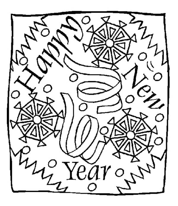 new year new years eve greeting message on new year coloring page