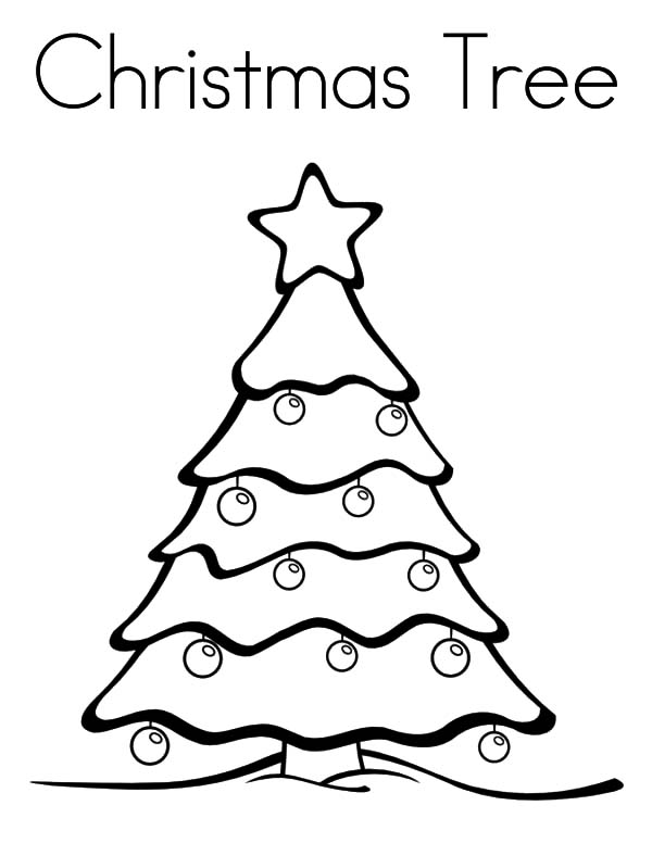 Full Size Printable Coloring Pages Christmas Tree Coloring Size Tree Coloring Page