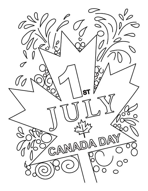 Coloring Pages For 2015 : Canada day 2015 at july 1st coloring pages color luna