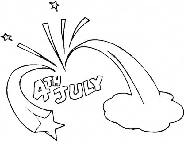 celebration of independence day event coloring page