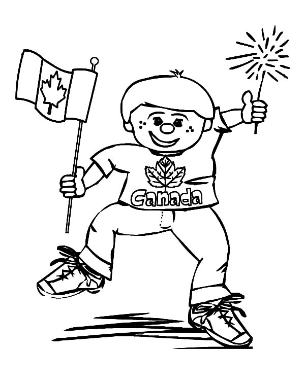 Funny Boy on Canada Day 2015 Coloring Pages  Color Luna