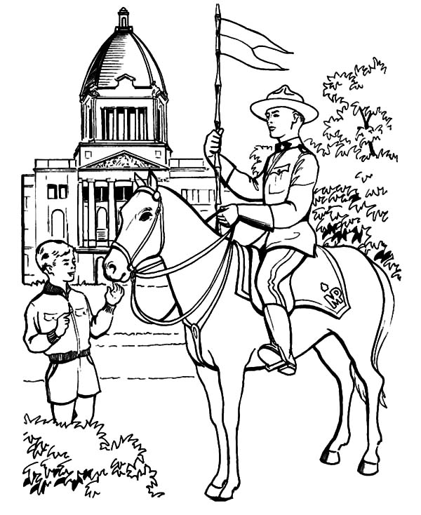 Horse Patrol on Canada Day 2015 Coloring Pages  Color Luna