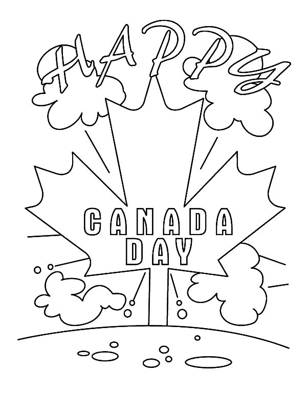 Its a Happy Canada Day 2015 Coloring Pages  Color Luna