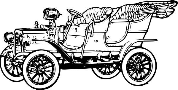 Model t Car, 1906 Model T Car Coloring Pages: 1906 Model T Car Coloring Pages