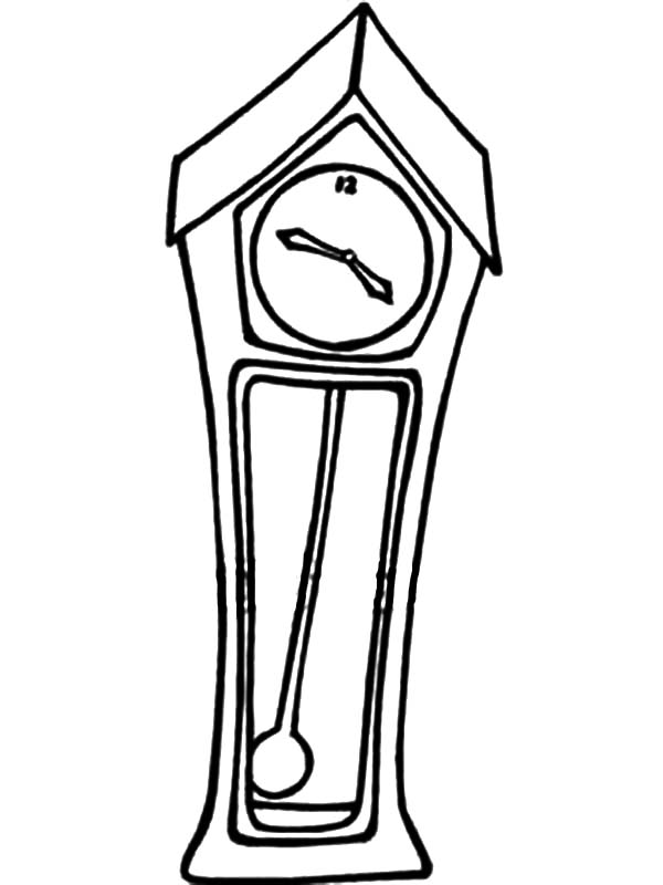Grandfather Clock, A Grandfather Clock With A Swinging Pendulum Coloring Pages: A Grandfather Clock with a Swinging Pendulum Coloring Pages