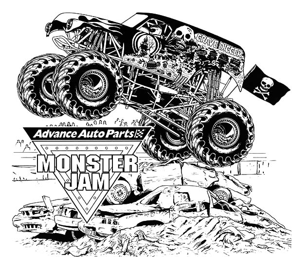 Advance Auto Parts Monster Jam Coloring Pages