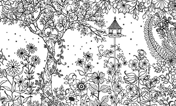 Amazing Secret Garden Coloring Pages | Color Luna