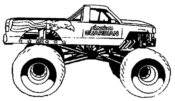How to Draw Monster Jam Truck Coloring Pages How to Draw Monster