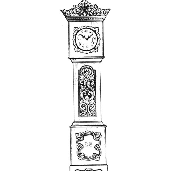An Antique Grandfather Clock Coloring Pages