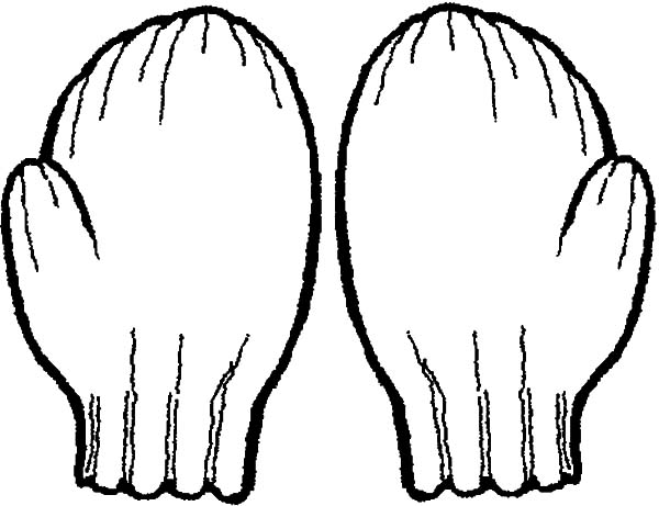 Mittens, An Old Mittens Coloring Pages: An Old Mittens Coloring Pages