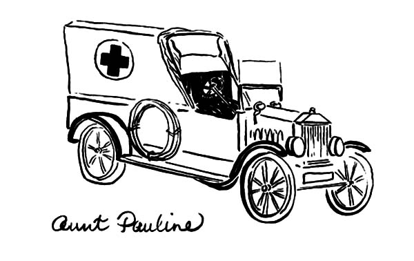 Model t Car, Aunt Pauline Model T Car Coloring Pages: Aunt Pauline Model T Car Coloring Pages