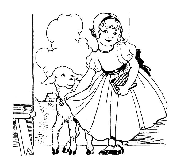 beautiful mary had a little lamb coloring pages