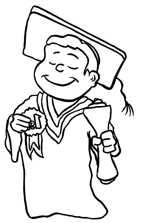 best student on graduation day coloring pages graduation cap and diploma