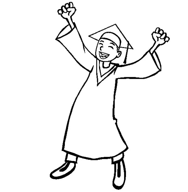 Graduation, Boy Celebrate Graduation Day Coloring Pages: Boy Celebrate Graduation Day Coloring Pages