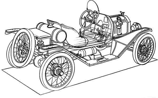 building model t car coloring pages