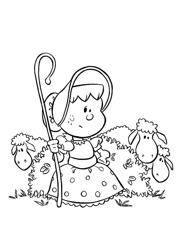 Chibi Picture Of Mary Had A Little Lamb Coloring Pages