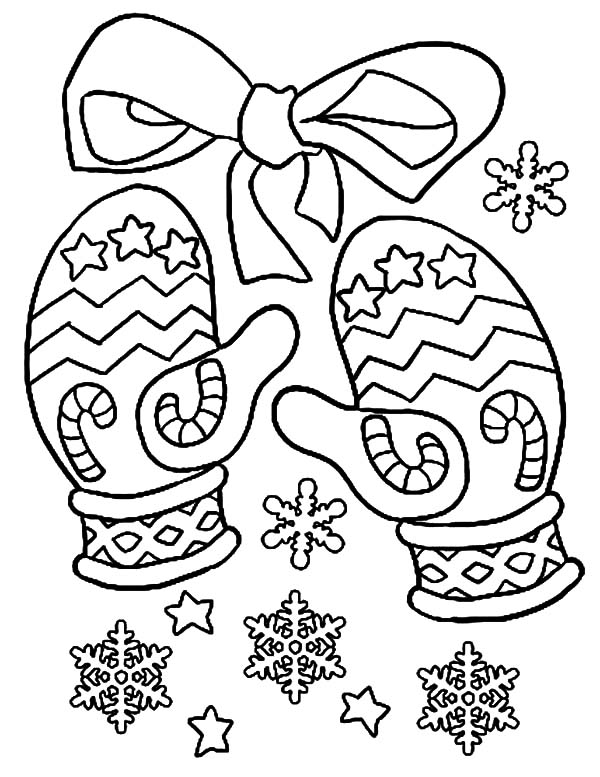 Mittens, Christmas Mittens Coloring Pages: Christmas Mittens Coloring Pages