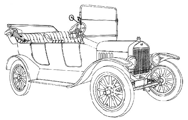 classic ford model t car coloring pages