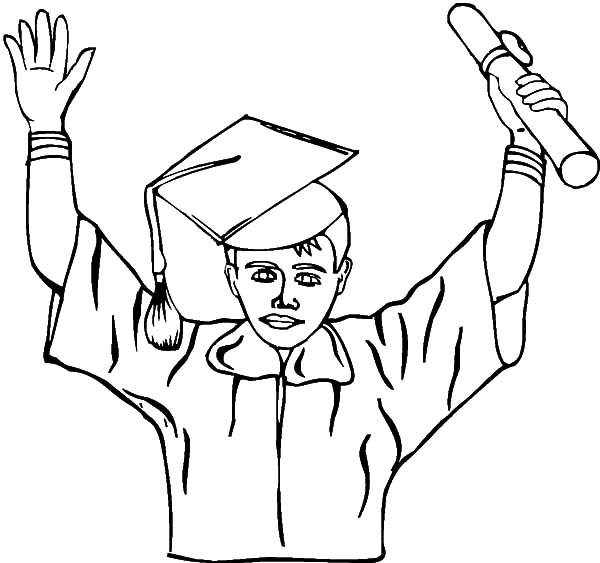 Graduation, Clever Student Graduation Coloring Pages: Clever Student Graduation Coloring Pages