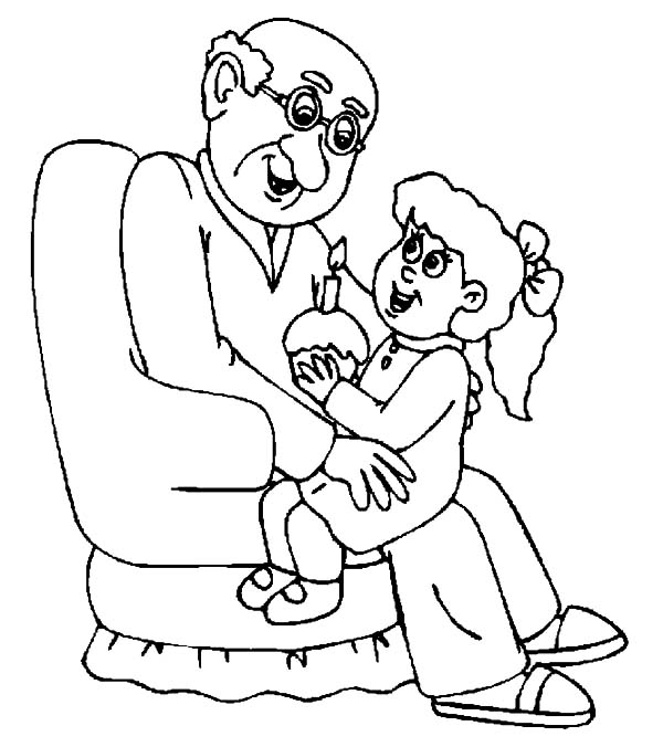 grandfather coloring pages color luna