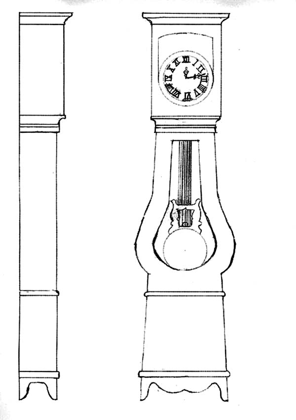 Grandfather Clock, Designing Grandfather Clock Coloring Pages: Designing Grandfather Clock Coloring Pages