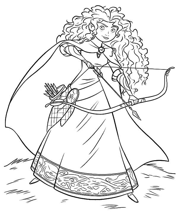 Merida, Disney Beautiful Princess Merida Coloring Pages: Disney Beautiful Princess Merida Coloring Pages