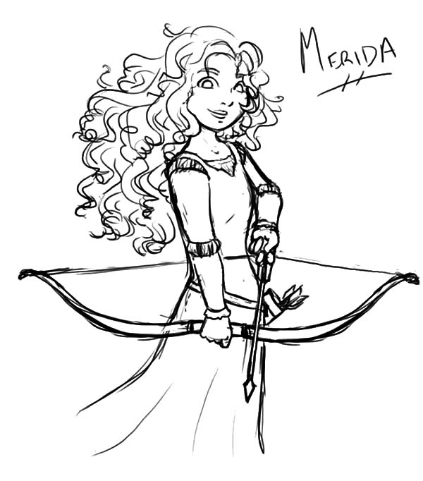 Coloring Pages Princess Merida : Disney princess merida coloring pages