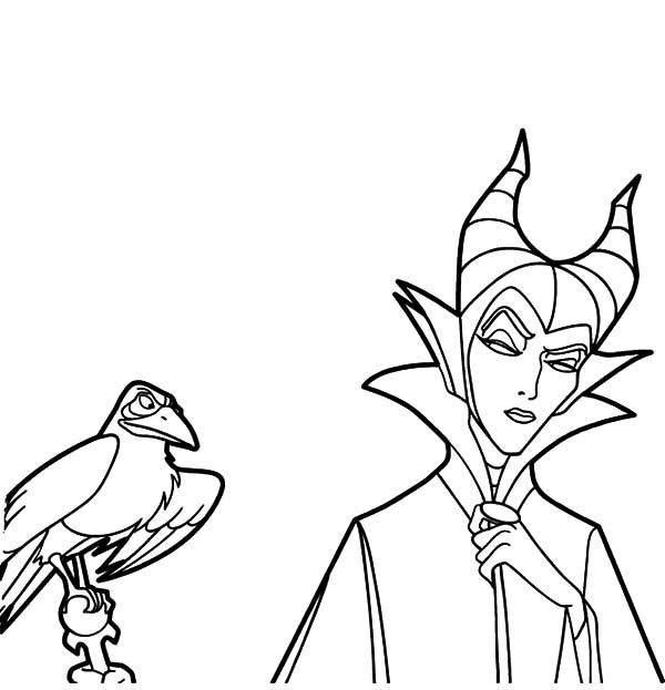 Disney Villain Character Maleficent Coloring Pages Color Luna