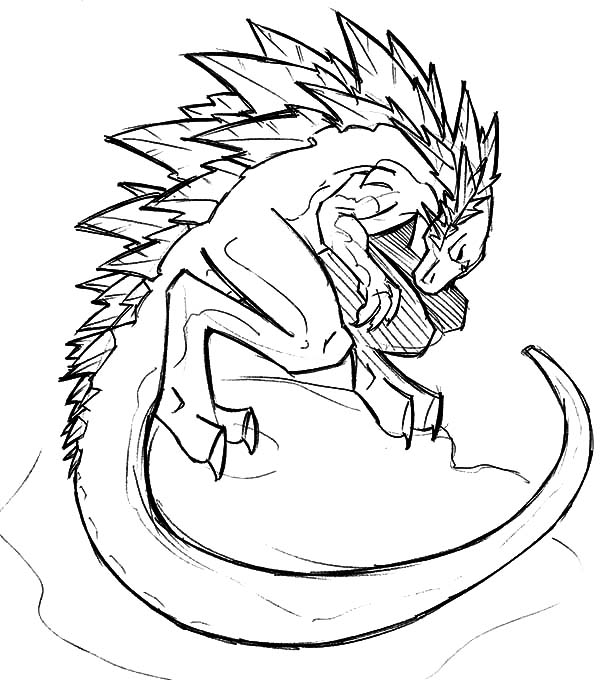 drawing godzilla coloring pages
