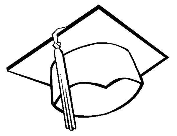 drawing graduation cap coloring pages