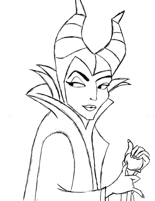 Drawing Maleficent Coloring Pages Color Luna