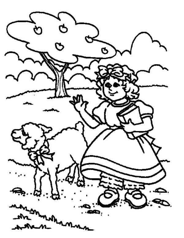 Drawing Mary Had A Little Lamb Coloring Pages