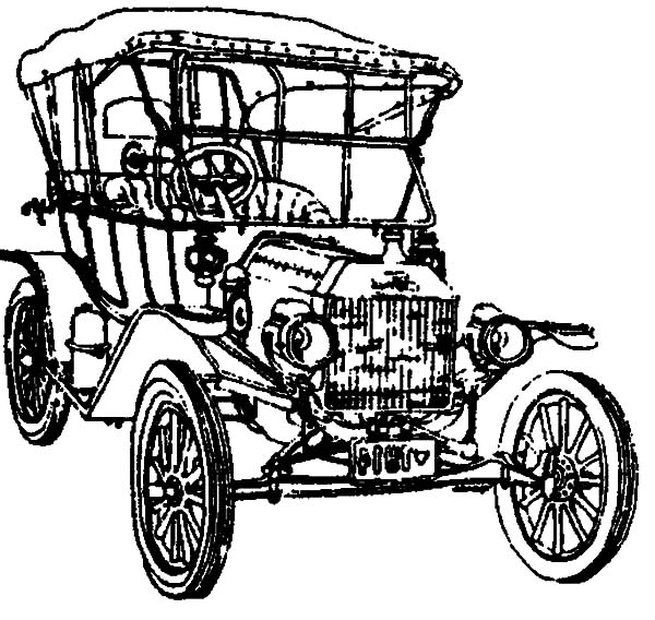 Model t Car, Drawing Model T Car Coloring Pages: Drawing Model T Car Coloring Pages