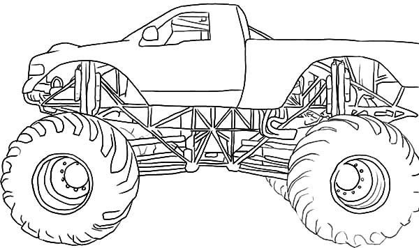 Monster Jam, Drawing Monster Jam Truck Coloring Pages: Drawing Monster Jam Truck Coloring Pages