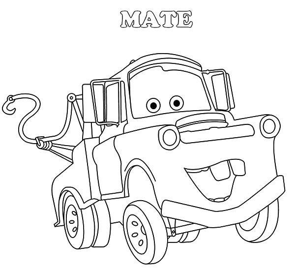 free printable mater coloring pages - photo#27