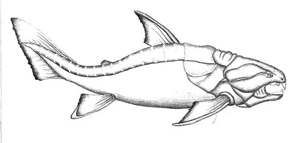 Dunkleosteus Monster Fish Coloring Pages